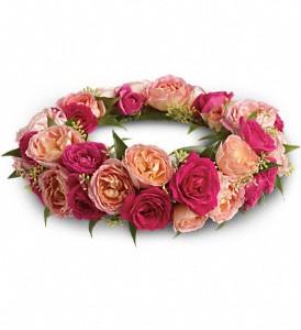 Spray rose hair ring