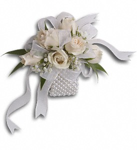Shimmering Pearls Wrist Corsage