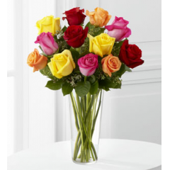 The FTD® Bright Spark™ Rose Bouquet - As Shown