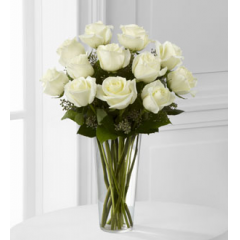 The FTD® White Rose Bouquet - As Shown