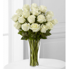 The FTD® White Rose Bouquet - Deluxe