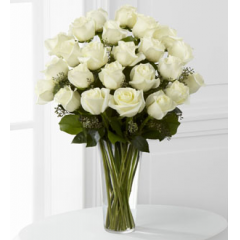 The FTD® White Rose Bouquet - Premium