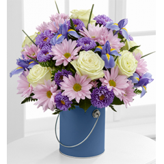 The FTD® Color Your Day With Tranquility™ Bouquet - Best