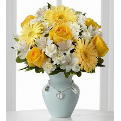 The FTD® Mother's Charm™ Rose Bouquet - Boy - As Shown