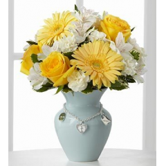 The FTD® Mother's Charm™ Rose Bouquet - Boy - Deluxe