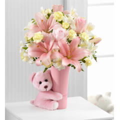The FTD® Baby Girl Big Hug™ Bouquet - As Shown