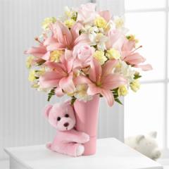 The FTD® Baby Girl Big Hug™ Bouquet - Best