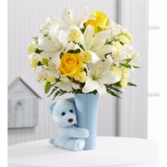 The Baby Boy Big Hug® Bouquet - As Shown