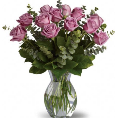Lavender Long Stemmed Roses Arranged