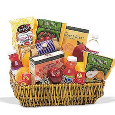 Gourmet and Fruit Combination Basket