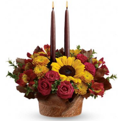 Sunflower Thanksgiving Centerpiece