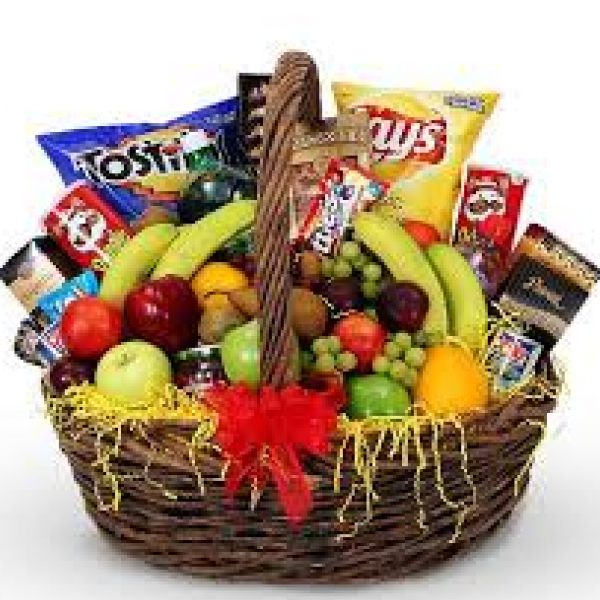 Fremont Flowers Fruit and Munchies Basket 85