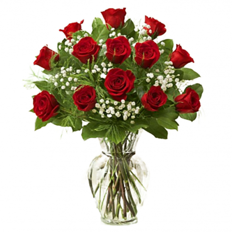 Red Long Stemmed 60CM  Roses Arranged