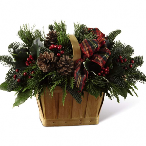 Holiday Homecoming Basket by Fremont Flowers