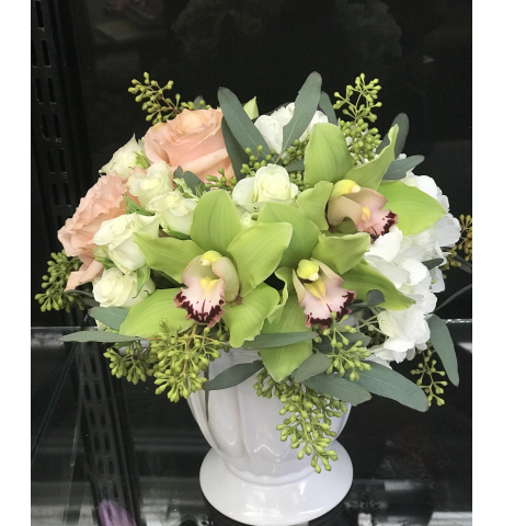 The orchid compote bouquet