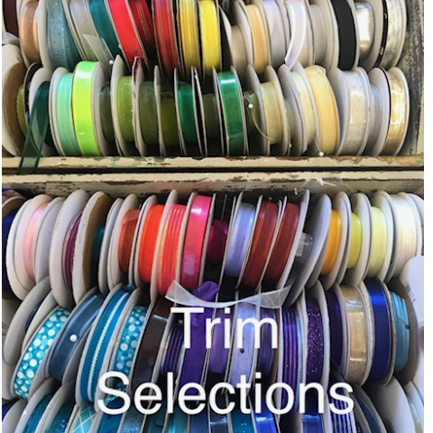 Available trims to match dresses