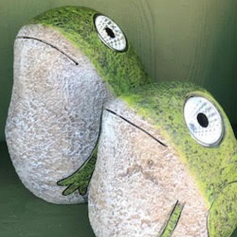 Frog solar lights