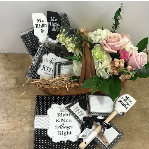 The wedding gift basket