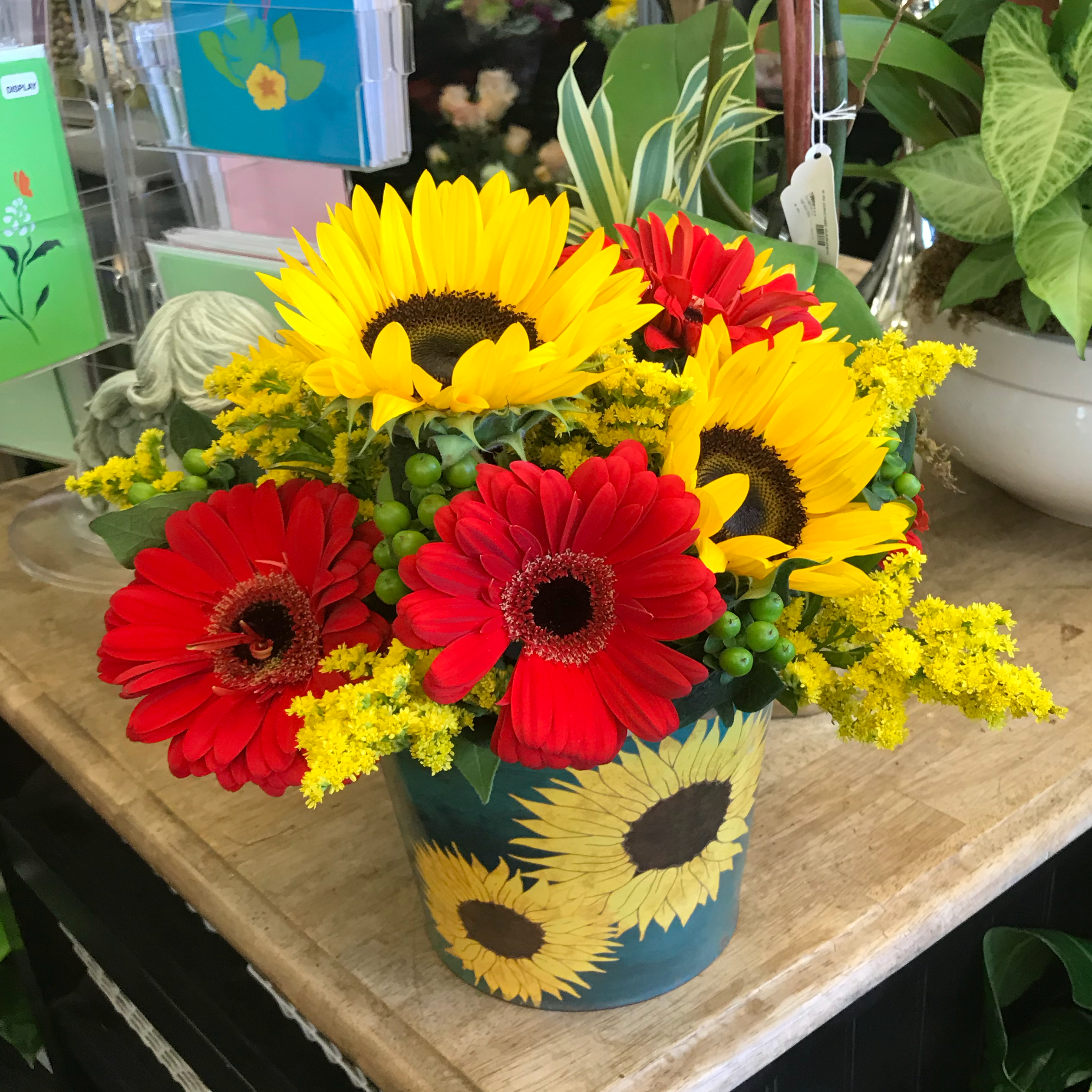 Sunflower Tin Pail