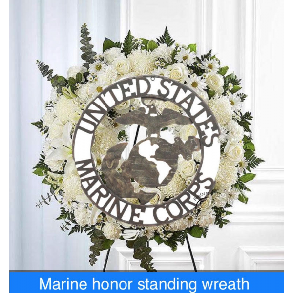 Marines Honor Standing Wreath