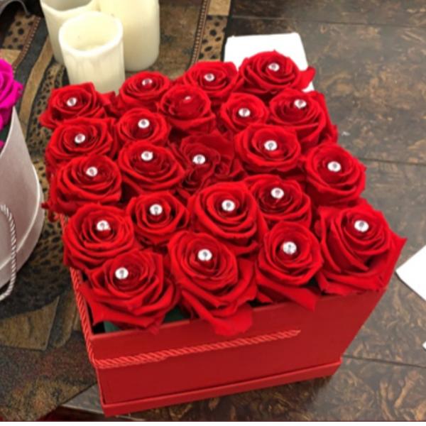 Forever Rose Hat box