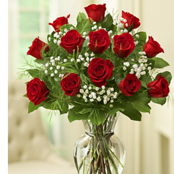 1 Dozen  Roses Arranged