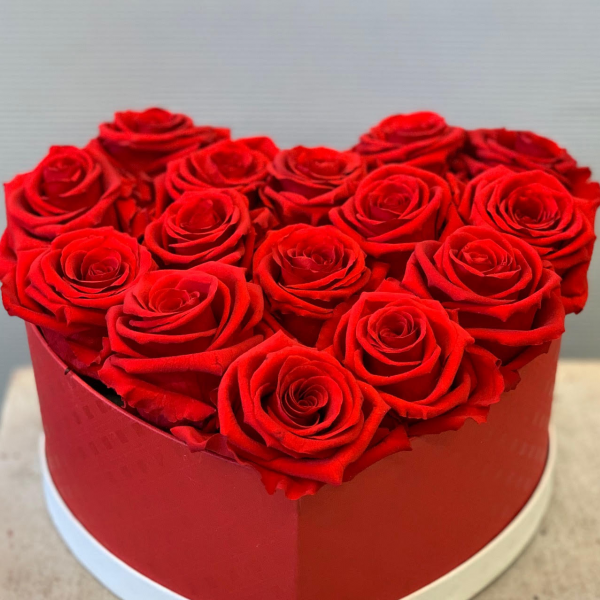 Passionate Rose Red Heart