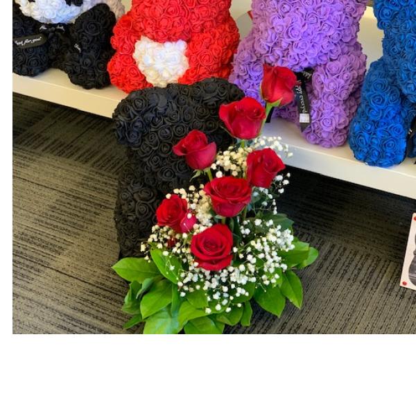 Rose Bear Bouquet