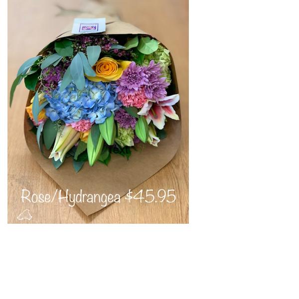 Rose Hydrangea Gerbera bouquet