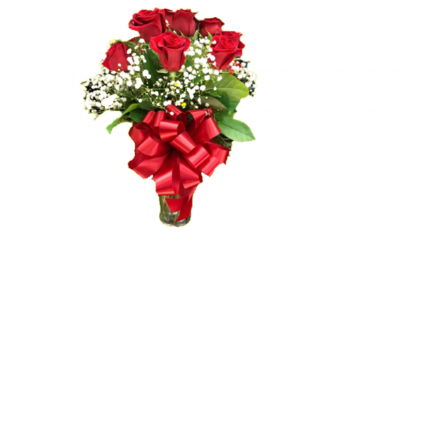 Medium Stem 40 cm red Roses Arranged