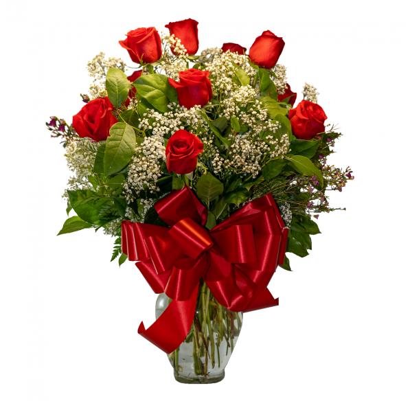 1 Dozen  Roses Arranged