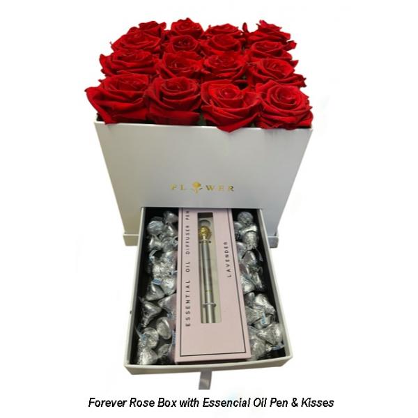 Forever Rose essential oil pen box