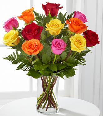 Fremont Flowers Mixed Medium Roses Arranged