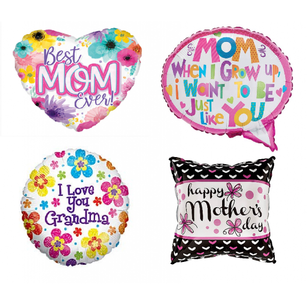 Balloon Mylar Happy Mother's Day 17in