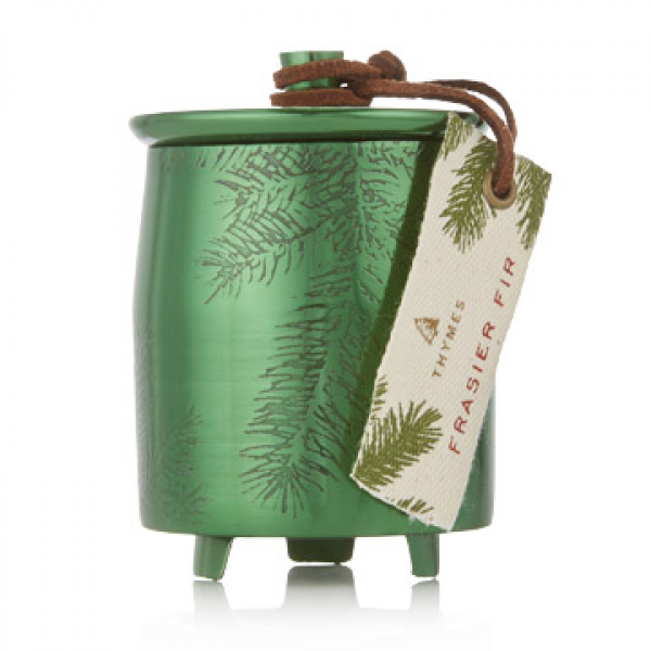 CANDLE FRASIER FIR TIN MEDIUM GREEN METAL 9.5oz