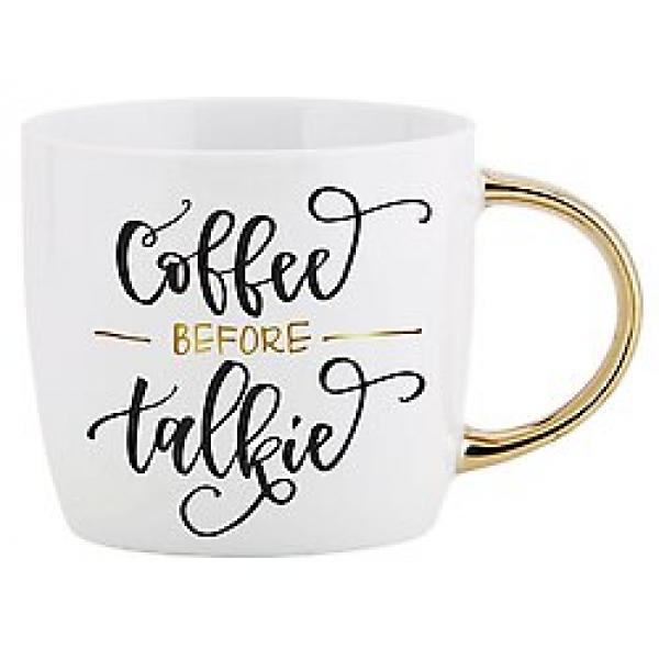 Mug w/ Gold Handle Coffee Before Talkie