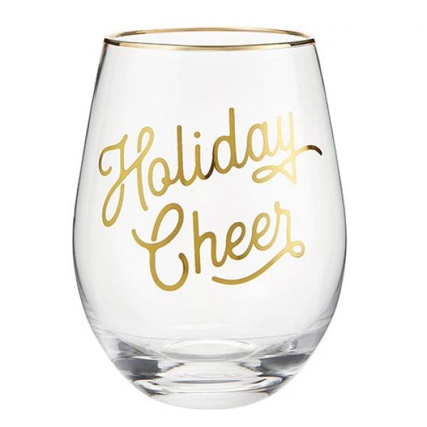 Wine Glass Holiday Cheer