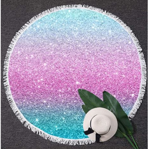 Beach Towel Round Colorful Glitter 60inch