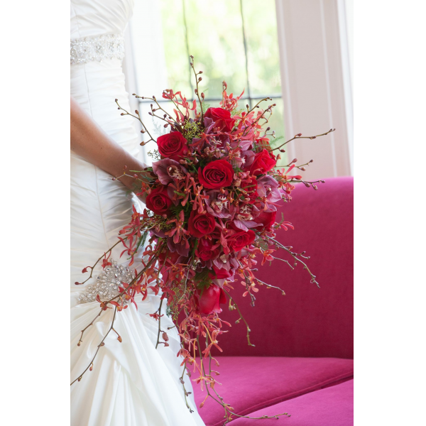Cascading All red Bouquet