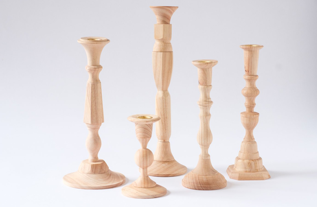 Georgian Wooden Candlesticks
