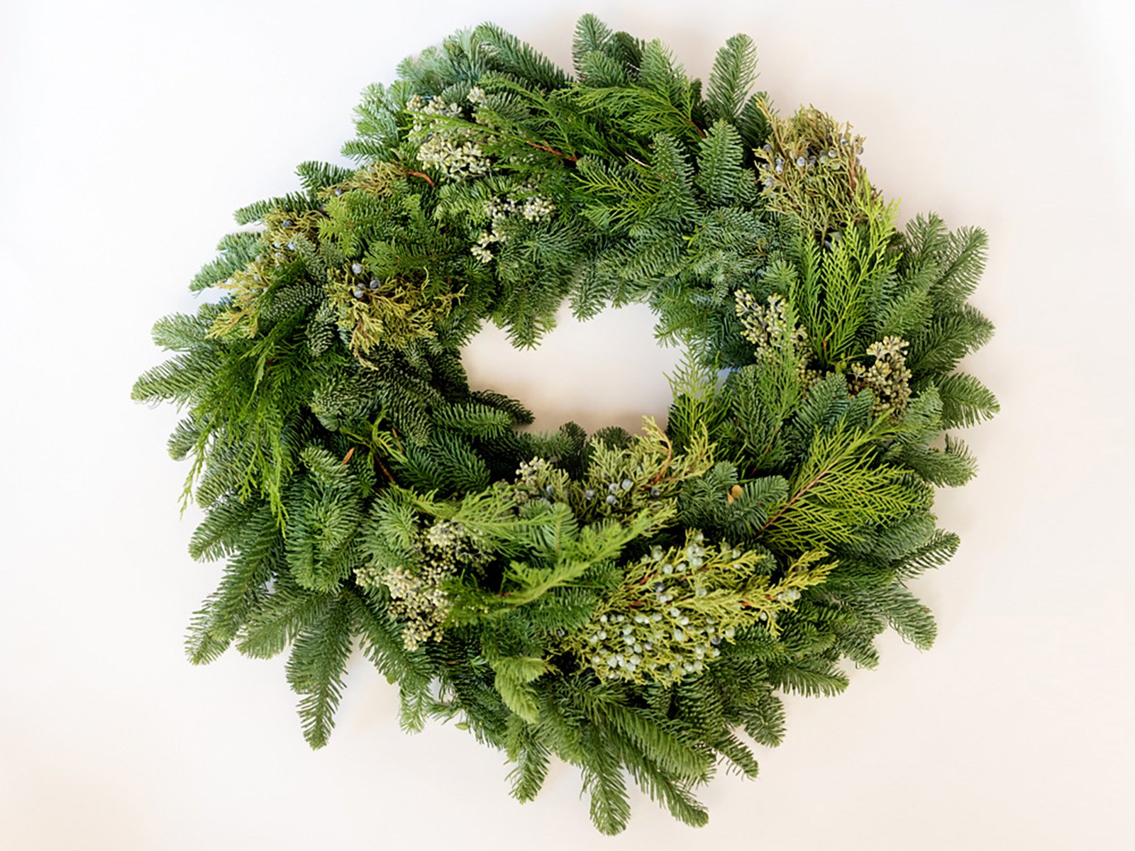 Mixed Evergreen Wreath and Garland
