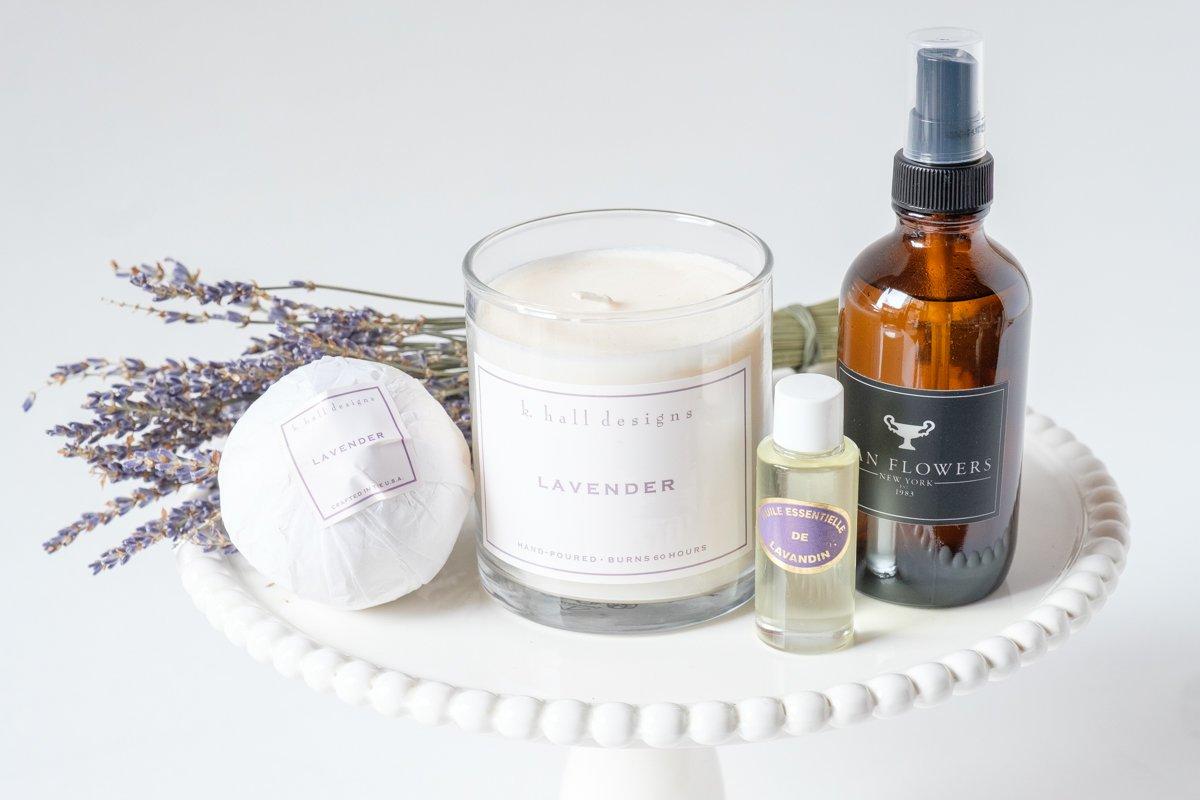Lavender Candle and Bath Bomb Alternative Image