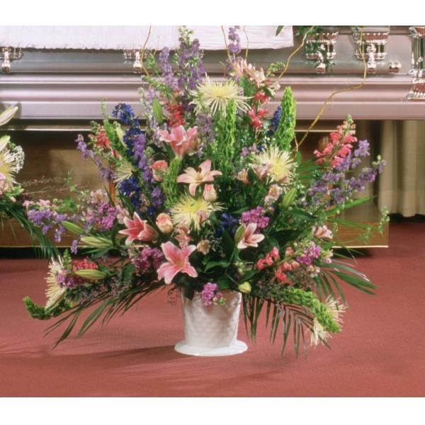 Pastel Beauty Floor Basket