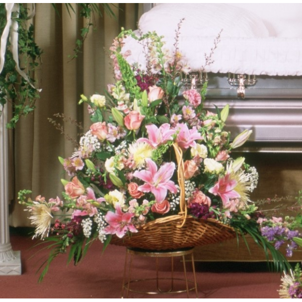 Pastel Beauty Fireside Basket