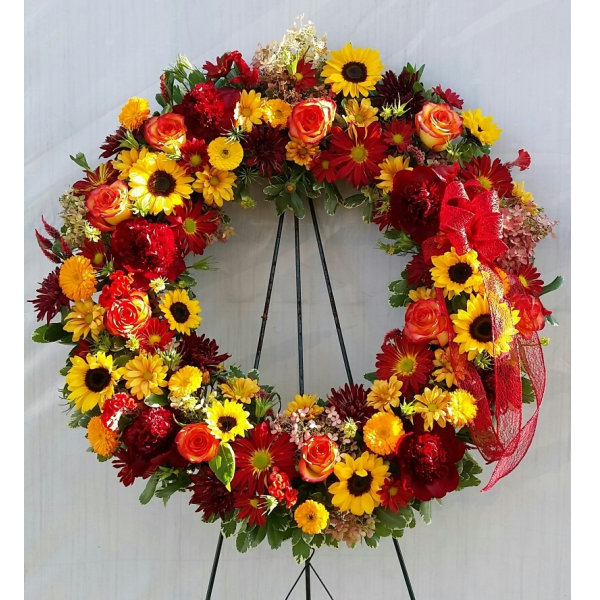 Rays of sunshine wreath