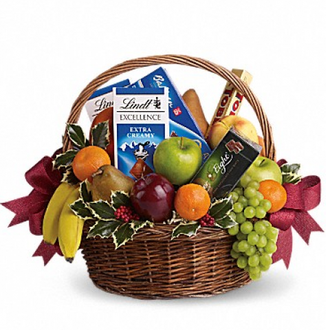 Fruits & Sweets Christmas Basket