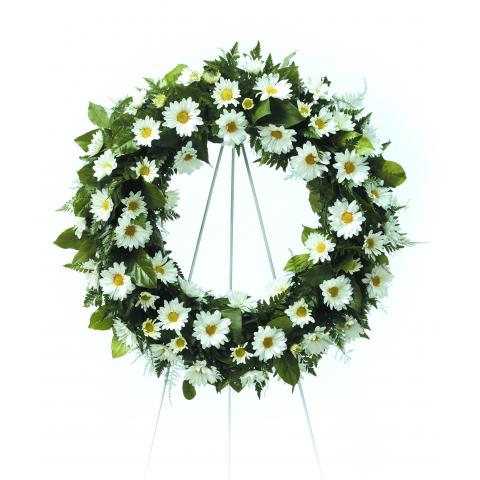 Peaceful Daisy Wreath