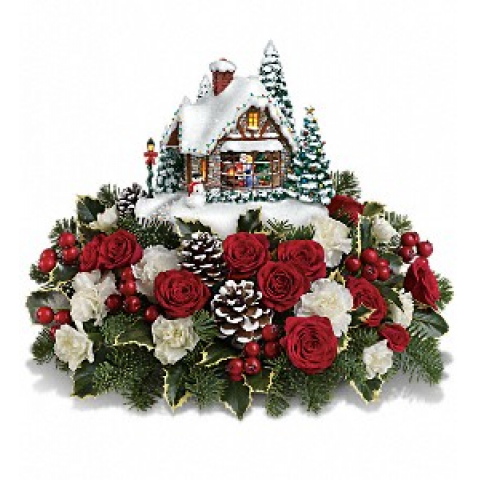 Thomas Kinkade's: A Kiss For Santa