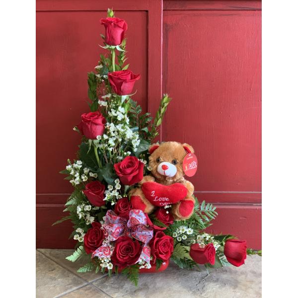 Rose plush bouquet