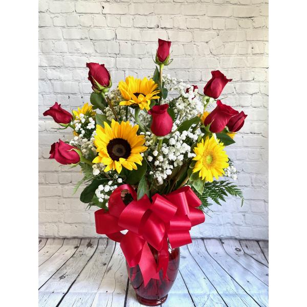 Rose & Sunflower Bouquet